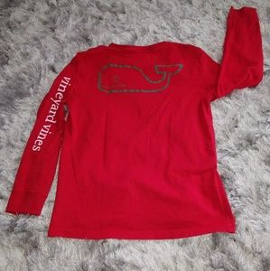 Vinyard Vines Red/Green Long Sleeve Boys T-Shirt M